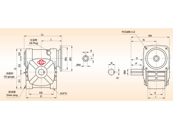 Double Lead Worm Gear Reducer